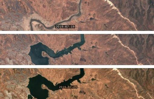 Hasankeyf'in Uydu Görüntüleri Paylaşıldı: Canlılar Tehlikede